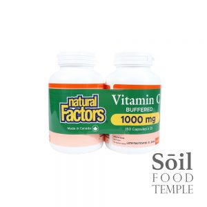 Vitamin & Nutrition Natural Factors 1000mg Available in 60 capsules x2