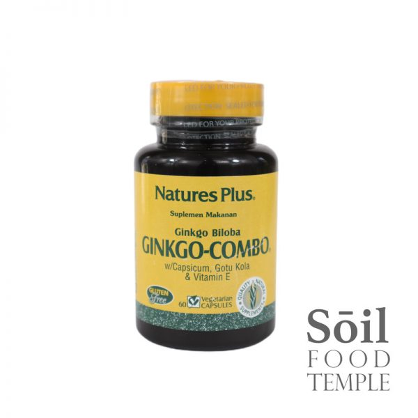 Vitamin & Nutrition Natures Plus Ginkgo Combo Available in 60 capsules