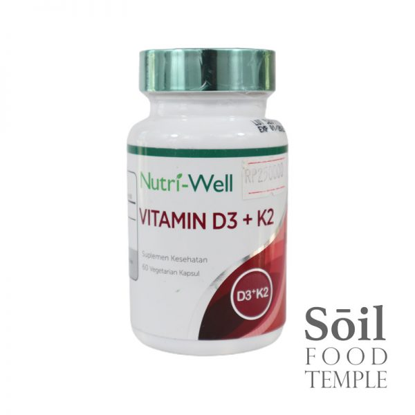 Vitamin & Nutrition Nutri Well Vit D3 + K2 Available in 60 capsules