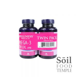 Vitamin & Nutrition Wellness Omega 3 Fish Oil Available in 75 soft gels x 2